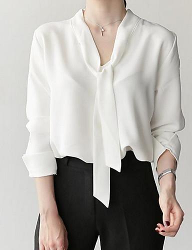 povoljno Ženske majice-Bluza Žene - Osnovni Dnevno Jednobojni V izrez Slim Obala