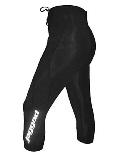tanie Odzież rowerowa-Jaggad Męskie Spodnie na rower Czarny Jednokolorowe Rower Spodnie 3/4 Rajstopy Majtki Oddychający Szybkie wysychanie Odblaskowe paski Sport Nylon Kolarstwo górskie Kolarstwie szosowym Odzież