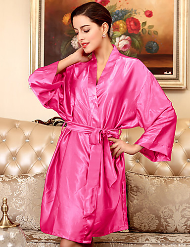 abordables Lingerie-Rayon / polyester Robes de Chambre Mariage Non personnalisé Lacet