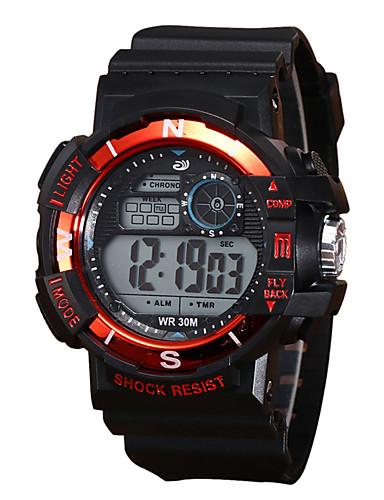 Muškarci Sportski sat digitalni sat Šiljci za meso Silikon Crna 30 m Vodootpornost LCD Svijetli u mraku Šiljci za meso Vintage Moda - Crvena Zelen Plava