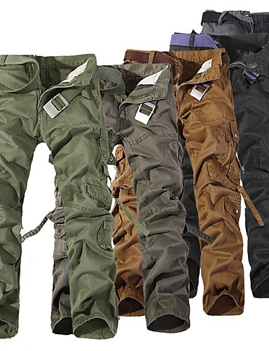 cheap Outdoor Clothing-Men's Hiking Pants Hiking Cargo Pants Outdoor Windproof Breathability Wearable Pants / Trousers Bottoms Hunting Hiking Camping Grey Dark Gray Khaki XXS 5XL 6XL