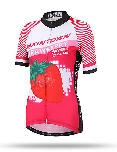 ddbc5494781c0 XINTOWN Women s Short Sleeve Cycling Jersey - Red Plus Size Bike Top  Breathable Quick Dry Back Pocket Sports Terylene Mountain Bike MTB Road Bike  Cycling ...