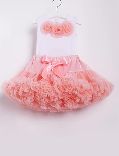 povoljno Odjeća za djevojčice-Djeca Dijete koje je tek prohodalo Djevojčice Aktivan Osnovni Škola Plaža Cvjetni print Mašna Drapirano Bez rukávů Regularna Pamuk Najlon Komplet odjeće Blushing Pink