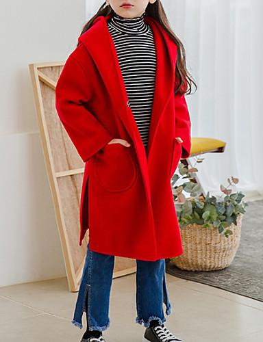 Djeca Djevojčice Osnovni Jednobojni Dugih rukava Jakna i kaput Red