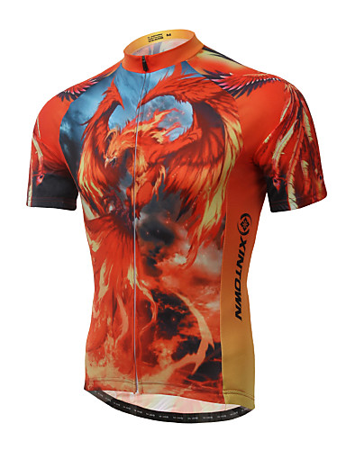 cheap Cycling Clothing-XINTOWN Men's Short Sleeve Cycling Jersey Red Bike Jersey Top Breathable Quick Dry Ultraviolet Resistant Sports Elastane Terylene Lycra Mountain Bike MTB Road Bike Cycling Clothing Apparel