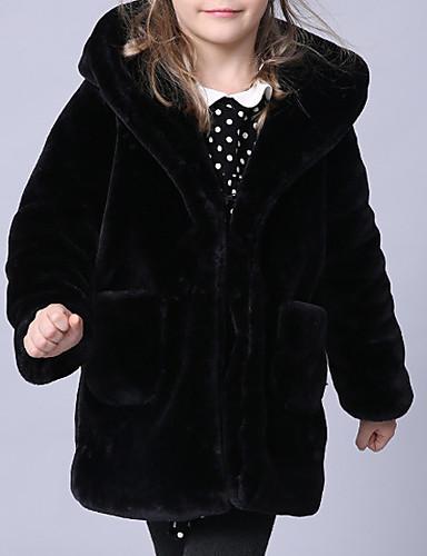 Bambino - Bambino (1-4 Anni) Da Ragazza Essenziale Tinta Unita Manica Lunga Cotone - Poliestere Completo E Giacca Nero #06947335