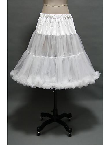 preiswerte Petticoat-Prinzessin Minimantel Tutu Unter Rock 50er Gothic Mittelalterlich Weiß / Krinoline