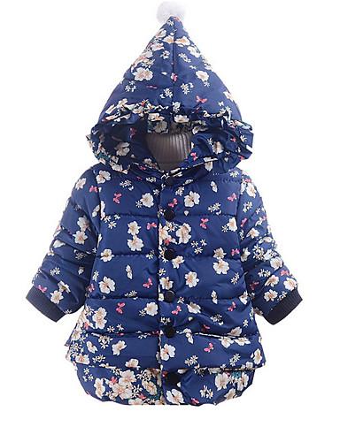 Dítě Dívčí Základní Denní Jednobarevné Dlouhý rukáv Krátké Bavlna Bundičky a kabáty Vodní modrá / Toddler