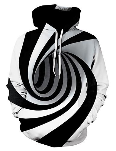 abordables Sweat-shirts Homme-Homme Grandes Tailles Capuche Basique Sweat à capuche Rayé / Bloc de Couleur / 3D