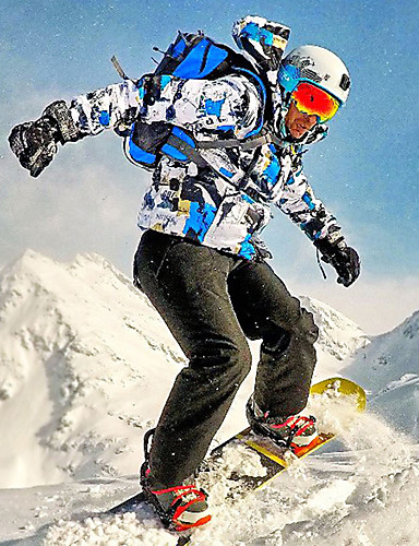 povoljno Skijaška i snowboard odjeća-Wild Snow Muškarci Skijaška jakna i hlače Vodootporno Vjetronepropusnost Prozračnost Skijanje Zimski sportovi Kompleti odjeće Skijaška odjeća