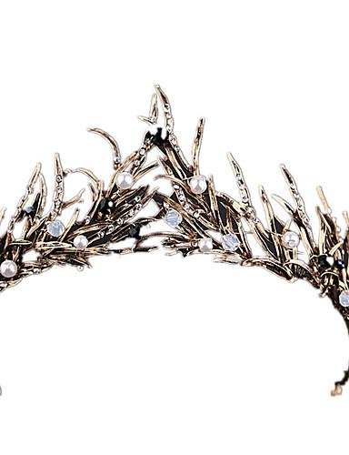 halpa Asut, asusteet, ja korut-Musta joutsen Vintage Tyylikäs Kruunu Naamiaisasu Naisten Asu Tiarat Valkoinen / Kultainen Vintage Cosplay
