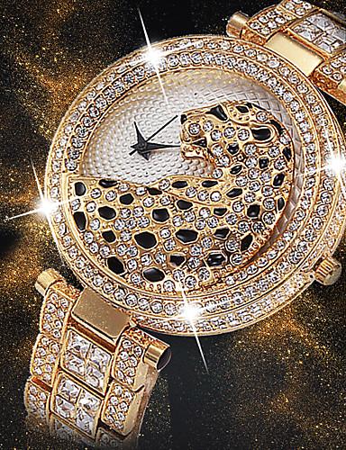 Жен. Наручные часы Diamond Watch золотые часы Японский Японский кварц Нержавеющая сталь Серебристый металл / Золотистый 30 m Творчество Новый дизайн Cool Аналоговый Дамы Роскошь Мода Bling Bling -