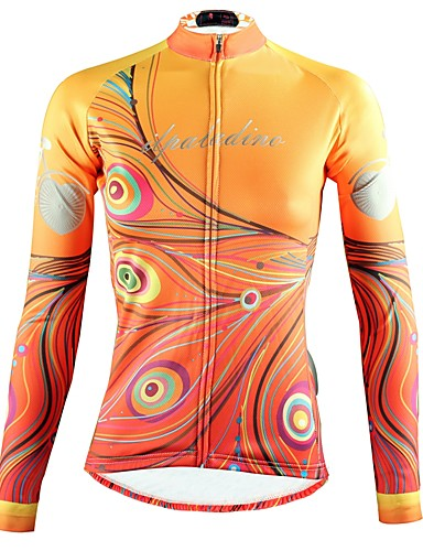 cheap Cycling Clothing-ILPALADINO Women's Long Sleeve Cycling Jersey - Yellow Bike Top Breathable Quick Dry Ultraviolet Resistant Sports Winter Elastane Mountain Bike MTB Road Bike Cycling Clothing Apparel