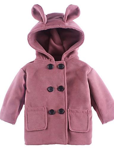 Dijete koje je tek prohodalo Djevojčice Aktivan Dnevno Jednobojni Dugih rukava Normalne dužine Jakna i kaput Blushing Pink