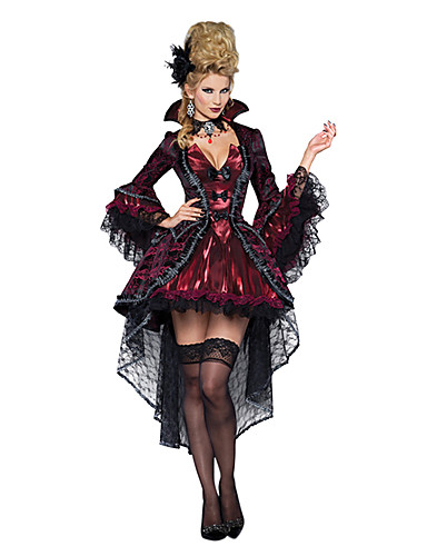 812433c36252 Vampire Queen Cosplay Costume Party Costume Women's Christmas Halloween  Carnival Festival / Holiday Terylene Red black Carnival Costumes Vintage