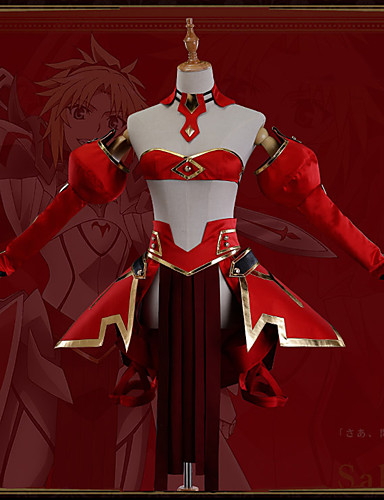 cheap Cosplay & Costumes-Inspired by Fate / Grand Order Mordred Anime Cosplay Costumes Japanese Cosplay Suits Art Deco / Novelty Skirt / Corset / Cloak For Unisex