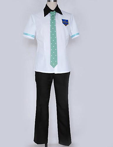 levne Cosplay a kostýmy-Inspirovaný Zdarma! Makoto Tachibana Anime Cosplay kostýmy Cosplay šaty / Školní uniformy Jednobarevné / City / Jednoduchý Kalhoty / Tričko / Kostým Pro Pánské / Dámské