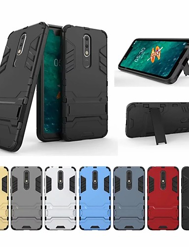 Θήκη Za Nokia Nokia X5 Otporno na trešnju / sa stalkom Stražnja maska Jednobojni / Oklop Tvrdo PC