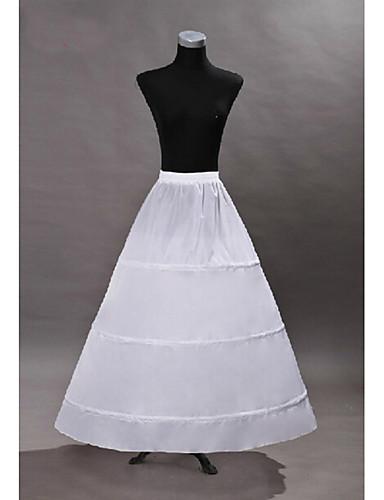 preiswerte Petticoat-Prinzessin Kleid Minimantel Tutu 50er Gothic Mittelalterlich Weiß Minimantel / Unter Rock / Krinoline