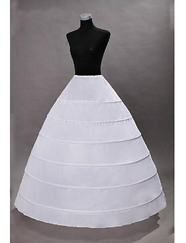 Princess Petticoat Hoop Skirt Tutu Under Skirt Classic Lolita 1950s Gothic White / Medieval / Crinoline