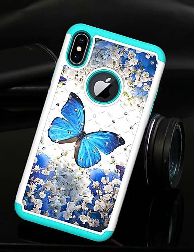 Θήκη Za Apple iPhone XS / iPhone XR / iPhone XS Max Štras / Translucent Stražnja maska Rukav leptir Tvrdo TPU / PC