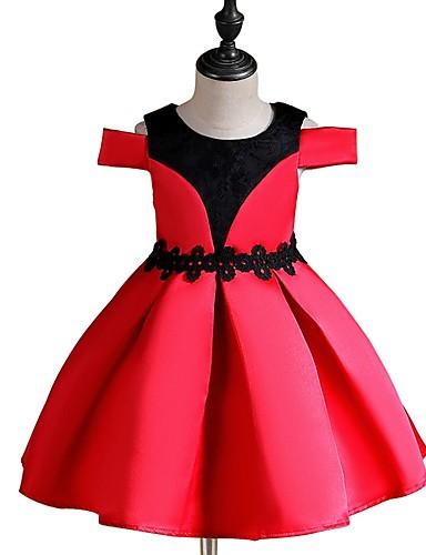 Djeca Djevojčice Osnovni Jednobojni Kratkih rukava Haljina Red