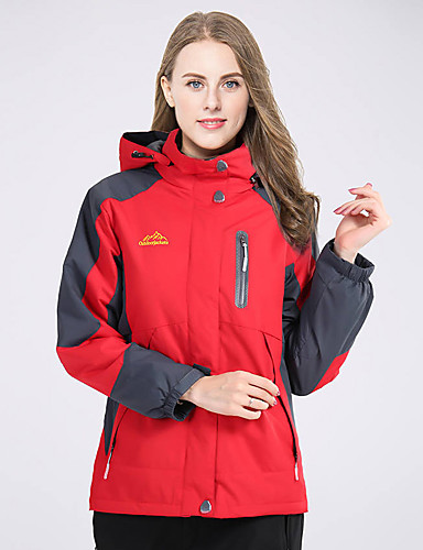 ad0648809 Women's Ski Jacket Hiking Jacket Outdoor Waterproof Thermal / Warm  Windproof Breathable Winter Fleece Jacket Winter Jacket Top Skiing Camping  / Hiking ...