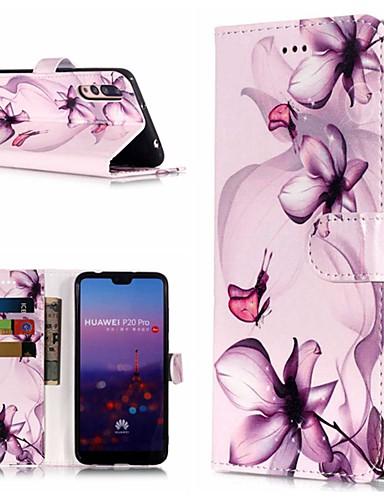 Θήκη Za Huawei Huawei P20 / Huawei P20 Pro / Huawei P20 lite Novčanik / Utor za kartice / sa stalkom Korice Cvijet Tvrdo PU koža