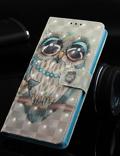 Θήκη Za Huawei Huawei Nova 3i / Huawei P Smart Plus / Huawei Mate 20 lite Novčanik / Utor za kartice / sa stalkom Korice Sova Tvrdo PU koža