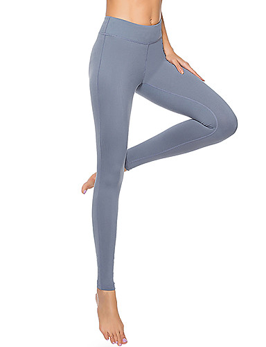 8d885bceed4 Women s Pocket Yoga Pants Blue Dark Gray Rust Red Sports Solid Color Tights  Leggings Zumba Dance Running Activewear Quick Dry Butt Lift Tummy Control  High ...