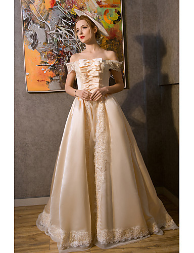 cf4049413bc ... Renaissance Costume Women s Dress Outfits Party Costume Masquerade  Golden yellow Vintage Cosplay Sleeveless Puff   Balloon Sleeve Ball Gown  Plus Size ...