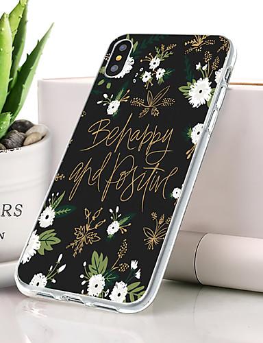 Θήκη Za Apple iPhone XS Max Protiv prašine / Ultra tanko / Uzorak Stražnja maska Cvijet Mekano TPU