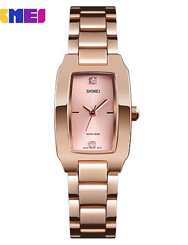 32b9b854ca1 SKMEI Mulheres Relógio Elegante Relógio de Pulso Quartzo Aço Inoxidável  Preta   Prata   Dourada 30