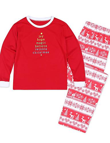 Odrasli Djeca Dijete koje je tek prohodalo Obiteljski izgled Osnovni Božić Dnevno Geometrijski oblici Dugih rukava Regularna Džemper i kardigan Djetelina