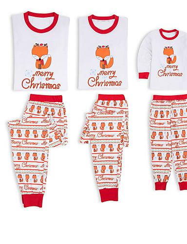 Obiteljski izgled Osnovni Božić Dnevno Životinja Dugih rukava Komplet odjeće Obala