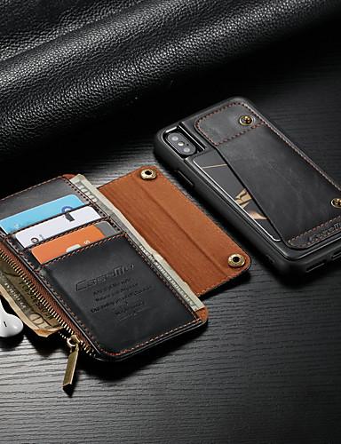Θήκη Za Apple iPhone XS / iPhone X Novčanik / Utor za kartice / Otporno na trešnju Korice Jednobojni Tvrdo PU koža