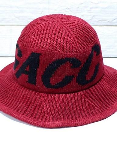 5064e8dbfc5dc Women s Basic Polyester Beanie   Slouchy Beret Hat Floppy Hat-Print Fall  Winter Red Gray Khaki