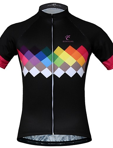 cheap Cycling Jerseys-JESOCYCLING Women  039 s Short Sleeve Cycling Jersey  - Black eade4c8e8