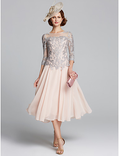 mother of the bride tea length dress