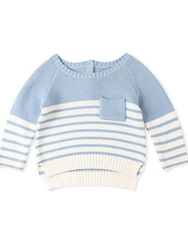 Dijete Dječaci Osnovni Jednobojni Dugih rukava Džemper i kardigan Plava / Dijete koje je tek prohodalo