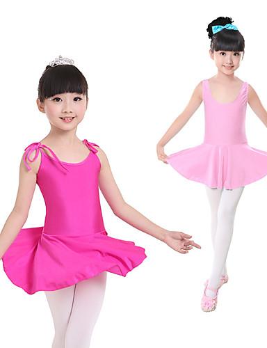 preiswerte Ballettbekleidung-Ballett Kleider Mädchen Training / Leistung Elastan / Lycra Bandverzierungen Ärmellos Kleid