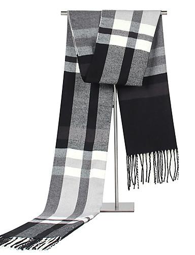 Недорогие Мужские шарфы-Муж. Для офиса / Классический Прямоугольная - Плиссировка Полоски / Контрастных цветов