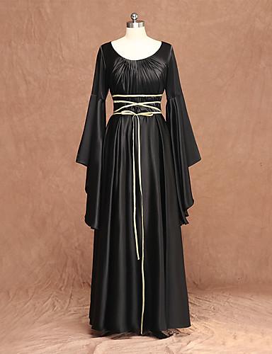 8a734c6d31bc4 Witch Medieval Renaissance Dress Women's Costume Black Vintage ...