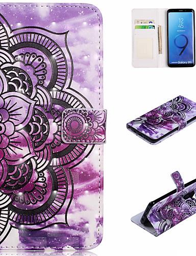 Θήκη Za Samsung Galaxy S9 / S9 Plus / S8 Plus Novčanik / Utor za kartice / sa stalkom Korice Mandala Tvrdo PU koža