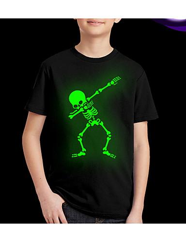 Djeca Dječaci Ulični šik Print Kratkih rukava Regularna Majica s kratkim rukavima Crn