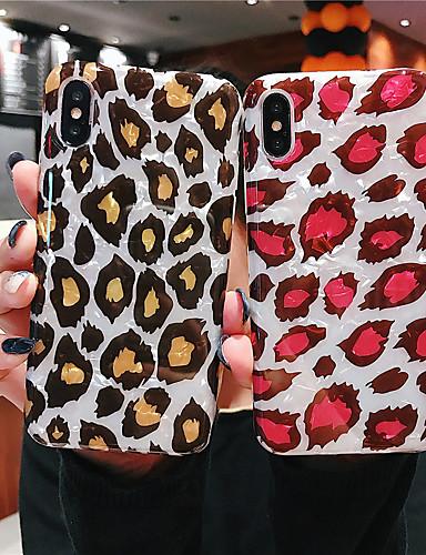 Θήκη Za Apple iPhone XS / iPhone XR / iPhone XS Max IMD Stražnja maska Uzorak leoparda / Životinja Mekano TPU