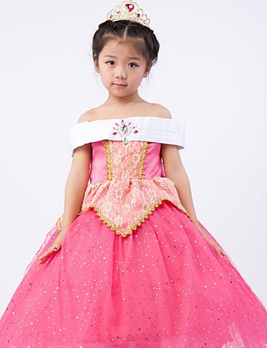 9534f3108 Aurora فساتين أزياء Cosplay أطفال للفتيات الفساتين كريسماس عيد الميلاد  Halloween عيد الأطفال عطلة / عيد بوليستر زهري كرنفال ازياء أميرة