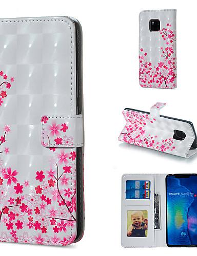 Θήκη Za Huawei Huawei Honor 10 / Huawei Honor 8X / Honor 7A Novčanik / Utor za kartice / sa stalkom Korice Cvijet Tvrdo PU koža