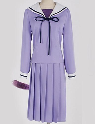 levne Anime kostýmy-Inspirovaný Noragami Hiyori Iki Anime Cosplay kostýmy japonština Cosplay šaty Jednobarevné Šaty / Více doplňků / Kostým Pro Pánské / Dámské