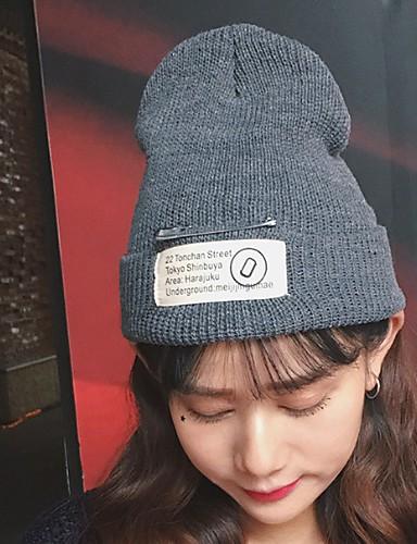 537307e2241ee Women s Active Basic Knitwear Beanie   Slouchy Ski Hat Newsboy Cap-Print  Fall Winter Red Dark Gray Light gray